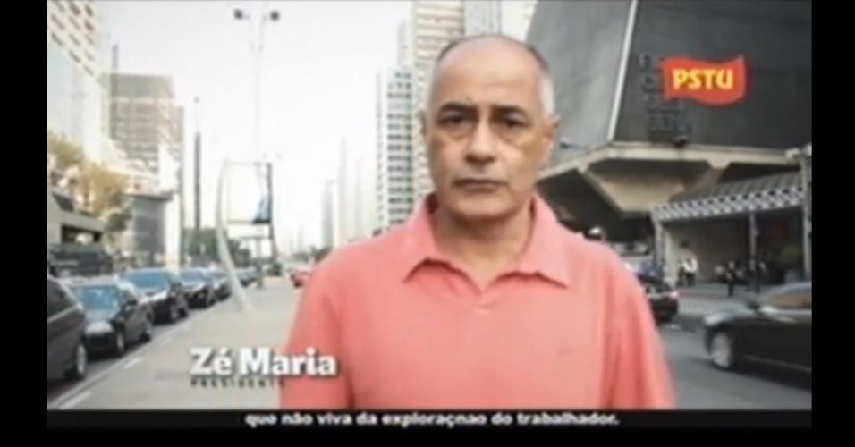 """Propaganda de Zé Maria (PSTU), candidato à Presidência, 2 de setembro: """"Não existe banqueiro ou empresário que não viva da 'exploraçnao' do trabalhador"""". Sobrou um 'n': o correto é 'exploração'"""
