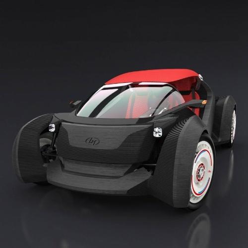 A fabricante norte-americana Local Motors fez um carro utilizando uma impressora 3D em Chicago. A companhia levou ao todo 44 horas para imprimir a carcaça do Strati, como foi apelidado o automóvel, e mais 24 horas para montar o veículo com motor, bateria, suspensão e outros itens. De acordo com a empresa, o Strati atinge velocidade máxima de 65 km/h e pode rodar até 242 km com uma carga de bateria