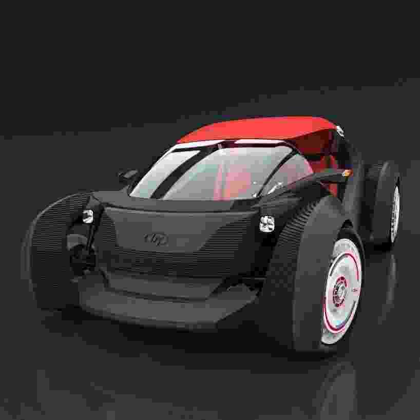 A fabricante norte-americana Local Motors fez um carro utilizando uma impressora 3D em Chicago. A companhia levou ao todo 44 horas para imprimir a carcaça do Strati, como foi apelidado o automóvel, e mais 24 horas para montar o veículo com motor, bateria, suspensão e outros itens. De acordo com a empresa, o Strati atinge velocidade máxima de 65 km/h e pode rodar até 242 km com uma carga de bateria - Divulgação/Local Motors