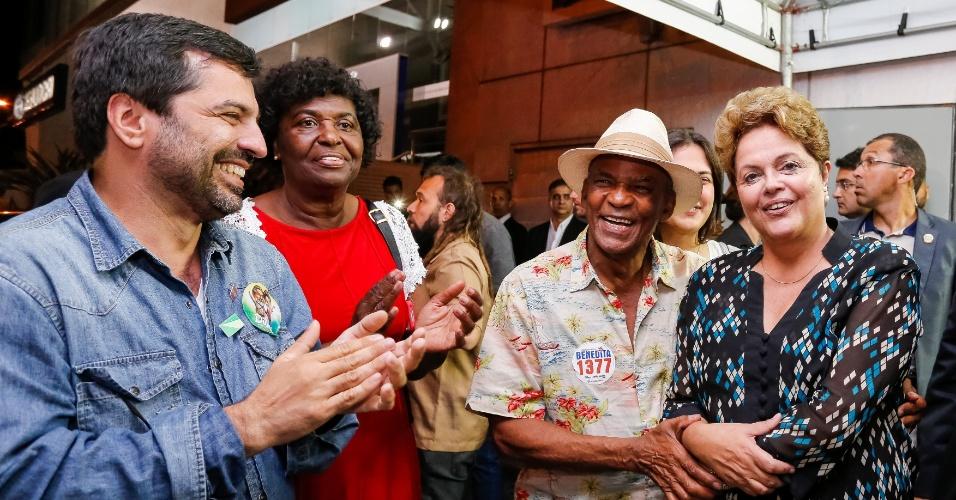 O ator Antonio Pitanga (de chapéu) declarou apoio à presidente Dilma Rousseff (PT). Ele assinou um manifesto de artistas e intelectuais em favor da petista