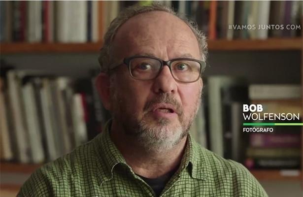 O fotógrafo Bob Wolfenson gravou um vídeo para a campanha de Marina Silva afirmando seu apoio à candidatura do PSB