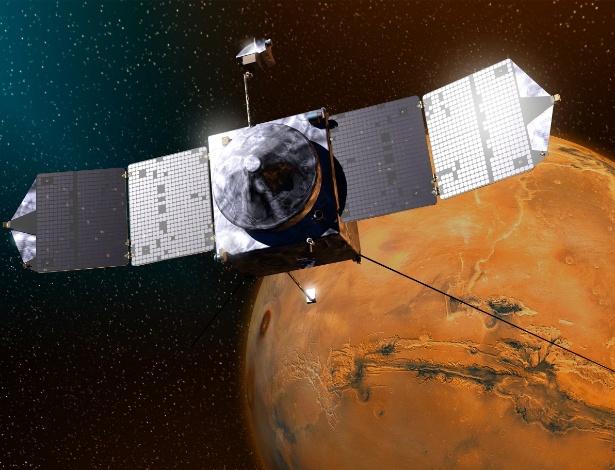 Sonda Maven chegará à órbita de Marte na segunda