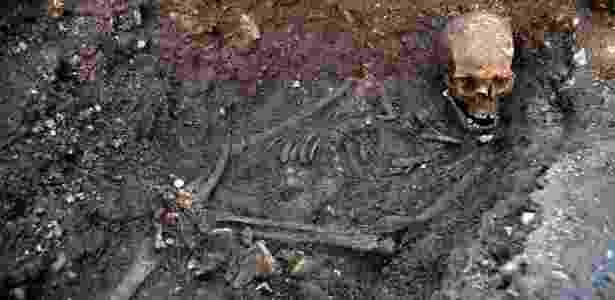 Esqueleto que pertenceria ao rei Ricardo III - University of Leicester/AFP - University of Leicester/AFP