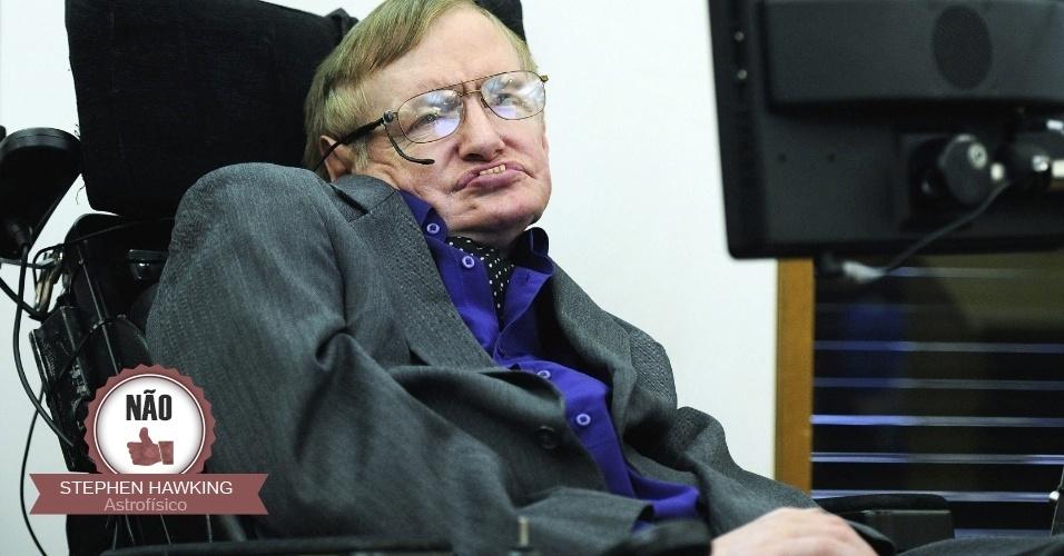 """18.set.2014 - O astrofísico Stephen Hawking anunciou o apoio ao """"Não"""" no referendo ao assinar uma carta aberta na qual pede à Escócia que permaneça no Reino Unido"""