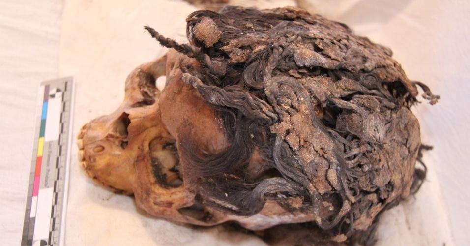 Arqueólogos descobriram esqueletos de centenas de pessoas enterradas no cemitério na cidade de Amarna, no Egito, cujos penteados ainda estavam intactos, apesar de passados milhares de anos. A egípcia foi enterrada com um penteado feito com 70 extensões de cabelo -- no melhor estilo