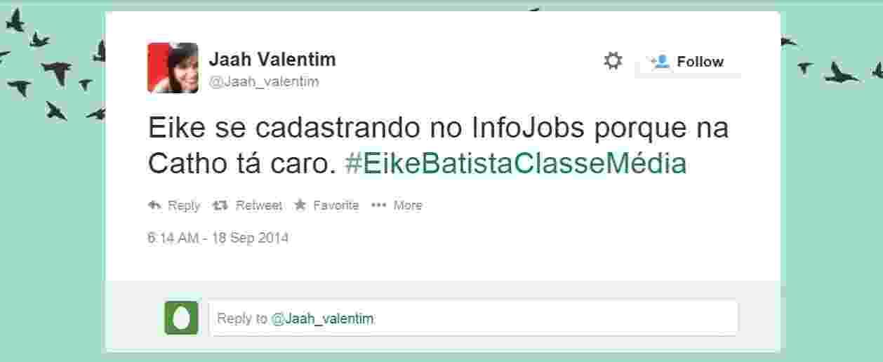 Crise de Eike Batista vira piada nas redes sociais - Reprodução/Twitter