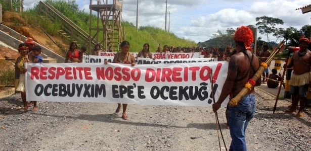 Cala-boca em Belo Monte - Movimento Xingu Vivo Para Sempre/Agência Pública