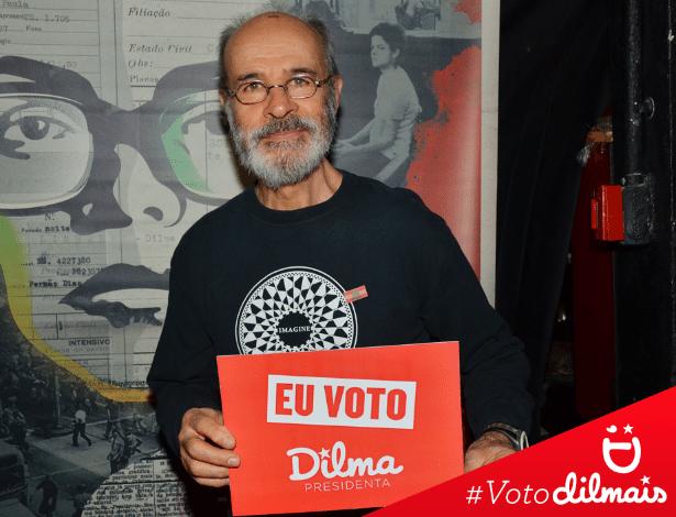 22.set.2014 - A equipe de redes sociais da campanha da presidente Dilma Rousseff (PT), candidata à reeleição, postou uma imagem do ator Osmar Prado apoiando a atual chefe do Executivo brasileiro