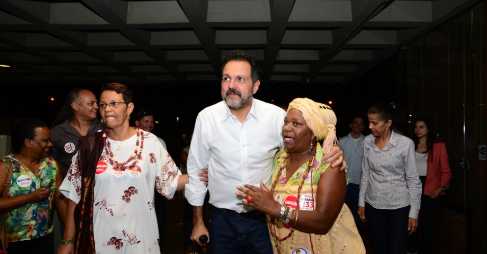 22.set.2014 - O governador do Distrito Federal, Agnelo Queiroz (PT), participa de plenária com as comunidades de religiões de matriz africana