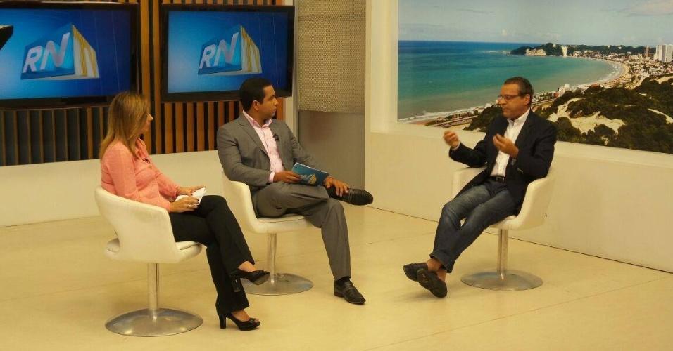 16.set.2014 - O candidato do PMDB ao governo do Rio Grande do Norte, Henrique Eduardo Alves, fala sobre sua plataforma política em entrevista ao RNTV 1ª Edição