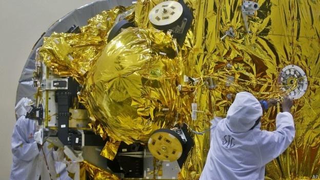 25.set.2014 - A missão da Índia a Marte foi uma das iniciativas interplanetárias mais baratas já realizadas