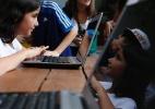 Crianças simulam a eleição presidencial de 2014 em escolas de SP - Junior Lago/UOL