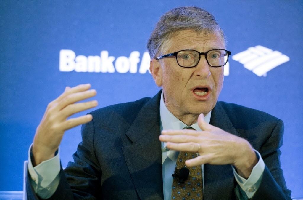 29.set.2014 - Bill Gates, fundador da Microsoft e do Instituto Bill e Melinda Gates, fala durante o evento