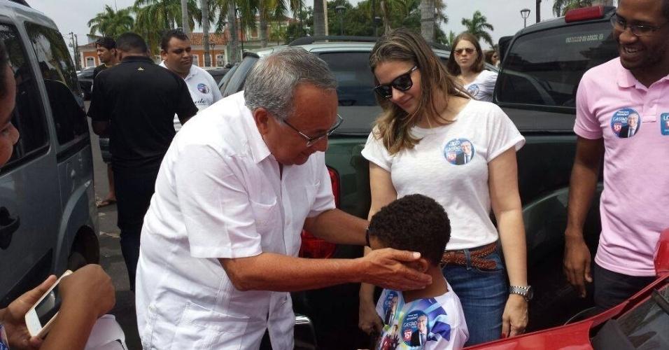 20.set.2014 - O candidato do PMDB ao Senado pelo Maranhão, Gastão Vieira, gravou programa eleitoral neste sábado