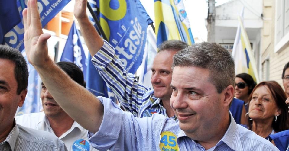 30.set.2014 - O ex-governador de Minas Gerais e candidato ao Senado pelo PSDB, Antonio Anastasia, visitou nesta terça-feira (30) os municípios de Pouso Alegre, Itajubá e Santa Rita do Sapucaí, no sul do Estado