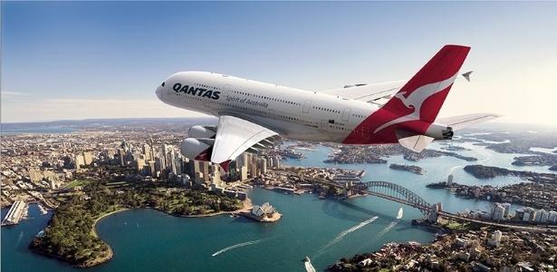 O Airbus A380, maior avião comercial do mundo, começou a operar a rota da Qantas Airlines entre Sydney, na Austrália, e Dallas/Fort Worth, nos Estados Unidos
