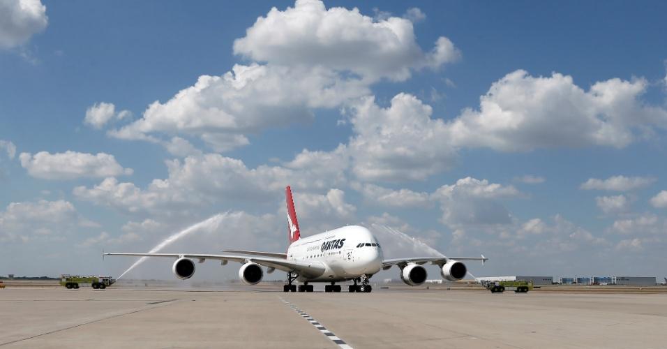 Artesanato Verefazer ~ Gigante A380 vai voar de Sydney (Austrália) para Dallas