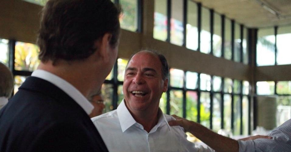 1.out.2014 - O candidato ao Senado por Pernambuco, Fernando Bezerra (PSB), abriu sua campanha nesta quarta (1º) café da manhã na Associação dos Fornecedores de Cana de Pernambuco