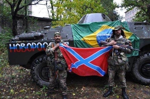 1º.out.2014 - Rafael Lusvarghi, o ex-legionário estrangeiro e ex-policial militar preso no dia 12 de junho em São Paulo durante protesto contra a realização da Copa do Mundo, juntou-se aos separatistas russos no leste da Ucrânia, onde comanda um pelotão