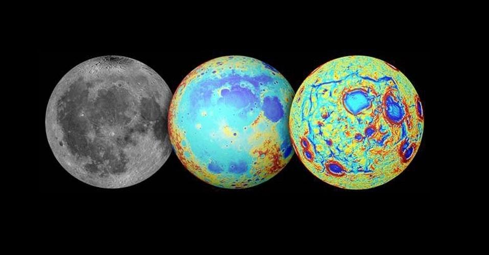 2.out.2014 - FIGURA HUMANA NA LUA - Uma bacia lunar escura que, vista da Terra, produz a imagem de uma figura humana, também conhecida como