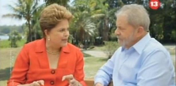 """Dilma exibe Lula em último programa de TV e promete: """"governo novo, ideias novas"""" - Reprodução"""