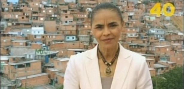 Em último programa de TV, Marina diz ser vítima do ódio e do medo dos adversários - Reprodução