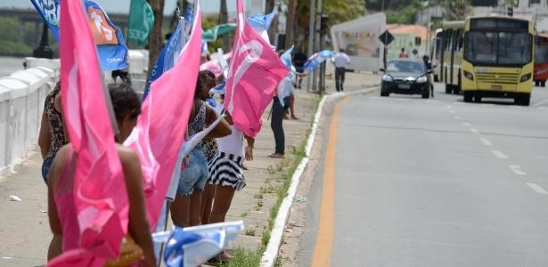 Na reta final de campanha, candidatos disputam espaços, nas principais ruas da cidade de São Luís, em busca dos votos dos indecisos