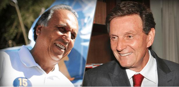 Rio: Pezão (PMDB) e Crivella (PRB) no 2º turno; Garotinho (PR) fora - Arte UOL