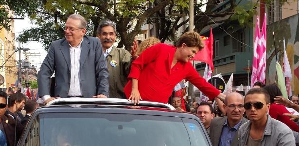 Dilma termina campanha em Porto Alegre - Leandro Prazeres/UOL