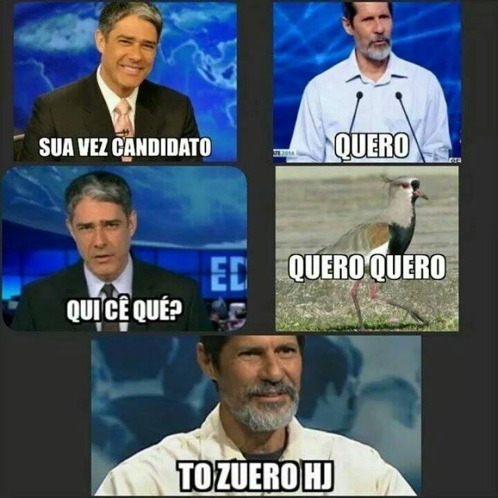 4.out.2014 - O modo de falar do candidato à Presidência Eduardo Jorge (PV) rendeu um meme