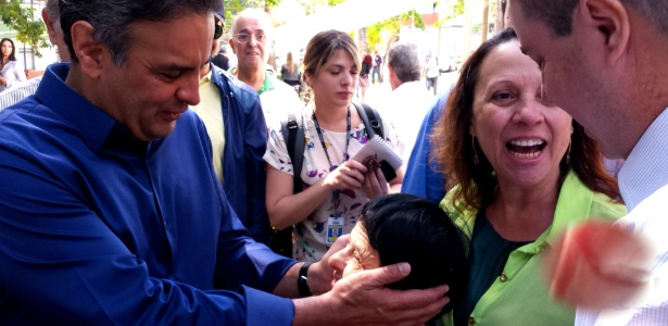 Aécio Neves ao lado de Antonio Anastasia durante a campanha de 2014