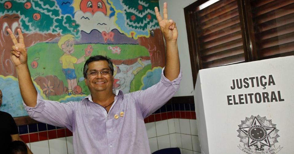 5.out.2014 - O candidato do PC do B Flavio Dino é o novo governador do Maranhão. Ele derrotou o candidato apoiado pela família Sarney, Edison Lobão Filho (PMDB)