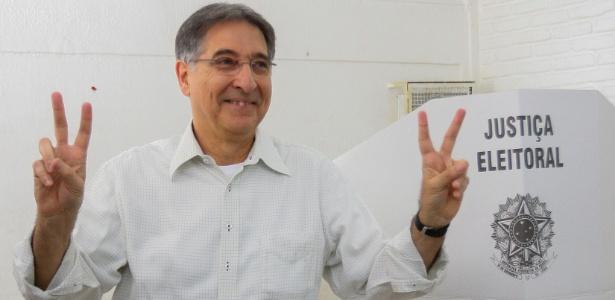 Fernando Pimentel durante a eleição de 2014 para o governo de MG