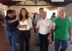 Elmano Férrer (PTB), conhecido como O Veín Trabalhador, chega para votar - Reprodução/Facebook
