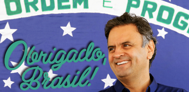 Aécio Neves agradece brasileiros - Reprodução/Facebook