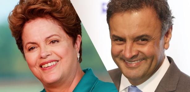 Dilma e Aécio falam após resultados - Arte UOL