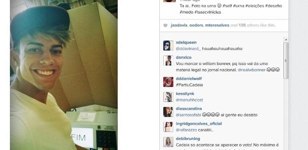 Selfie na cabine - Reprodução/Instagram
