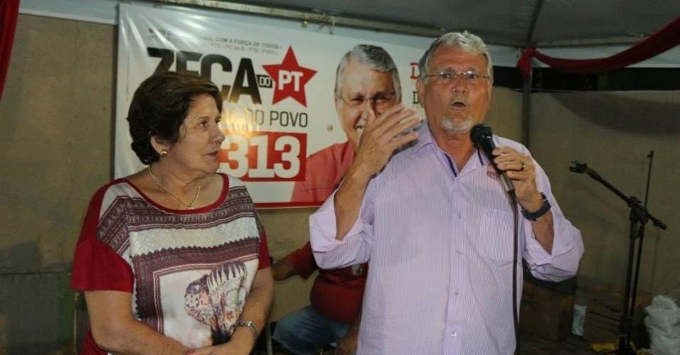05.out.2014 - O ex-governador José Orcírio Miranda dos Santos, o Zeca do PT (PT), 64, foi eleito como o deputado federal mais votado pelo Mato Grosso do Sul, com 160.556 votos (12,57%). Um dos fundadores do Partido dos Trabalhadores no Estado, Zeca do PT exerceu dois mandatos seguidos como governador (1999-2002 e 2003-2006) e atualmente é vereador em Campo Grande