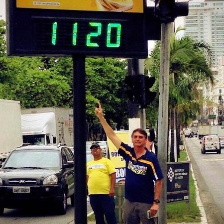 Bolsonaro durante sua campanha para a Câmara em 2014 - Reprodução - 18.set.2014/Facebook