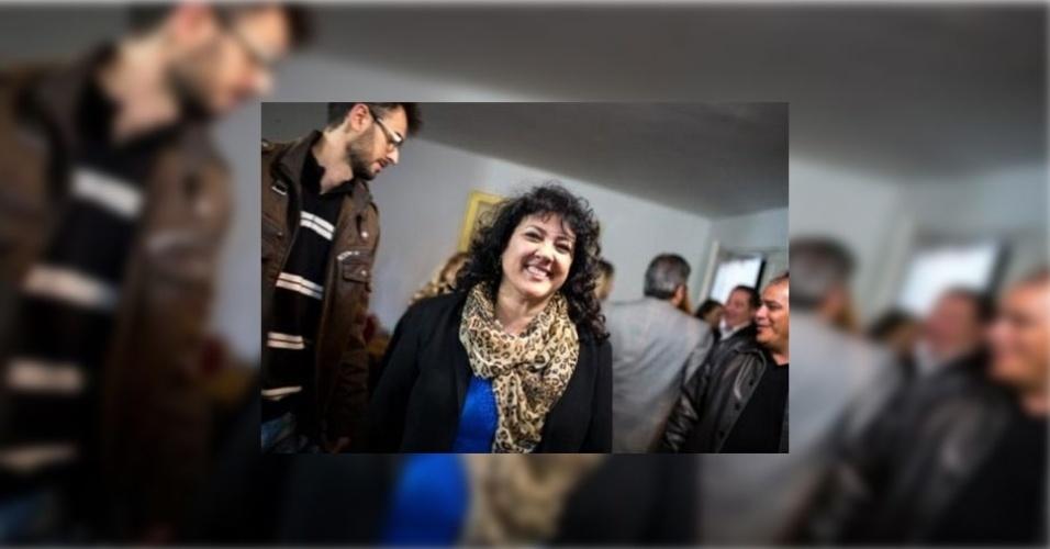 5.out.2014 - Christiane Yared (PTN), que perdeu filho Gilmar Rafael Souza Yared durante acidente envolvendo o então deputado estadual Fernando Ribas Carli Filho,em 2009, foi a deputada federal mais votada no Paraná, com mais de 200 mil votos