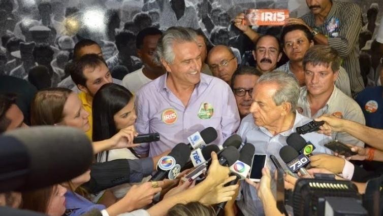 5.out.2014 - O deputado federal Ronaldo Caiado (DEM) foi eleito senador de Goiás, neste domingo (5). Ele recebeu 47,57% dos votos válidos