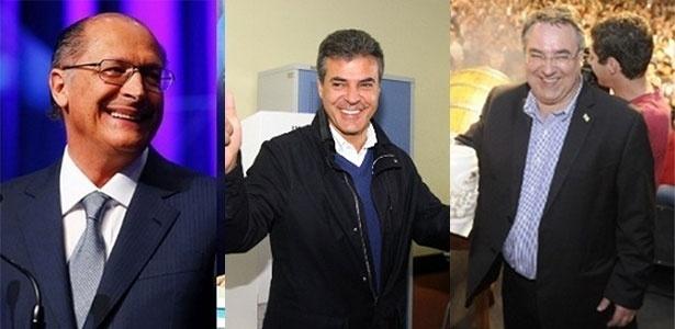 Geraldo Alckmin (PSDB-SP), Beto Richa (PSDB-PR) e Raimundo Colombo (PSD-SC) foram reeleitos