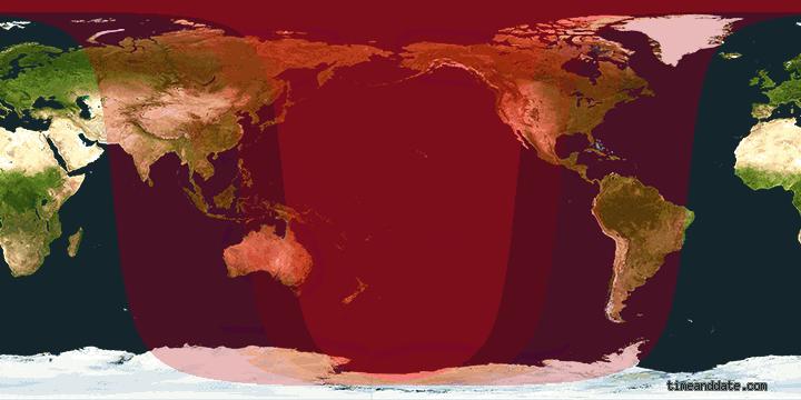 7.out.2014 - A área vermelho intenso da imagem é onde a