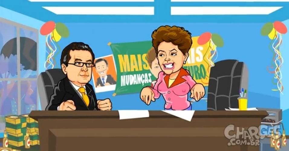 7.out.2014 - O chargista Maurício Ricardo brinca com as estratégias dos marqueteiros para as campanhas do 2º turno das eleições. Assista a charge completa clicando aqui