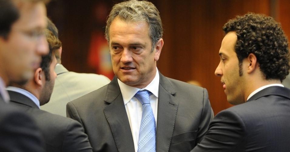 7.out.2014 - O deputado estadual Plauto Miró (DEM) foi reeleito para o cargo de deputado estadual com 63.959 votos, o que representa 1,11% dos votos válidos no Estado do Paraná. Com esse desempenho, Plauto terminou o pleito como o décimo candidato mais votado entre os que concorreram ao Legislativo estadual