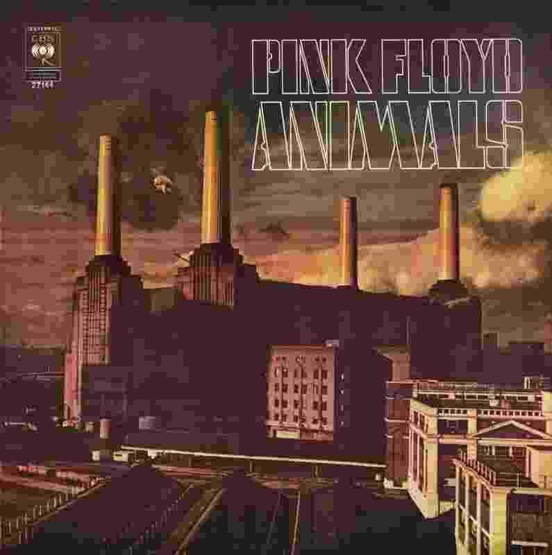 """Capa do disco """"Animals"""", lançado em 1977 pela banda de rock Pink Floyd, que tornou a usina de Battersea famosa - Divulgação"""