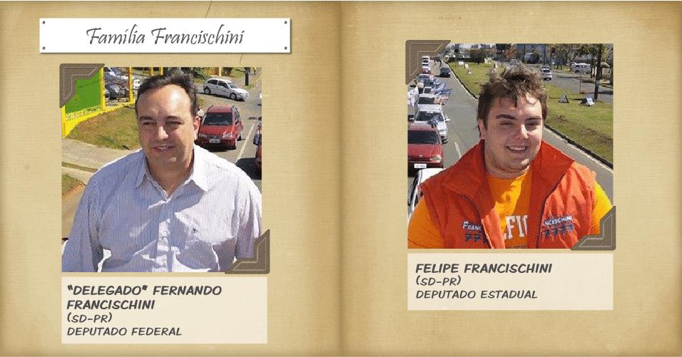 No Paraná, Fernando Francischini (SD), conhecido como ?delegado Francischini?, foi reeleito deputado federal com 159.569 votos. O filho dele, Felipe Francischini, foi eleito deputado estadual pelo mesmo partido com 35.842