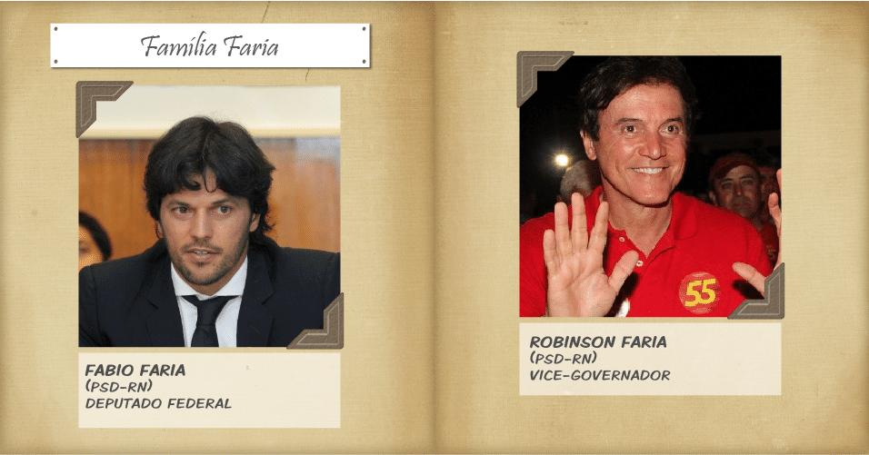 O deputado Fabio Faria (PSD) foi reeleito deputado federal por Rio Grande do Norte com 166.427 votos. Ele é filho de Robinson Faria, atual vice-governador do Estado e que concorre ao cargo principal. Ele vai disputar o governo potiguar no segundo turno com Henrique Alves