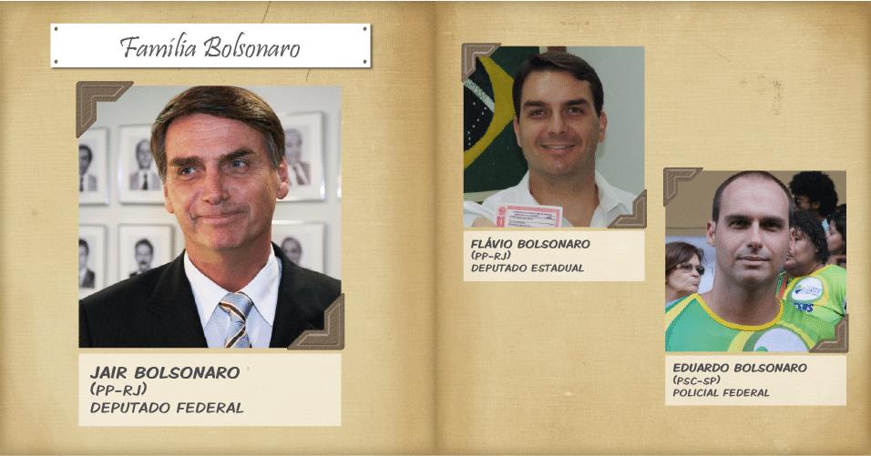 O deputado federal Jair Bolsonaro, foi reeleito deputado federal com a maior votação no Rio de Janeiro (464.572 votos). Ele tem dois filhos na política: Flávio Bolsonaro, deputado estadual no Rio de Janeiro e que também busca ser reeleito, e Eduardo Bolsonaro, policial federal candidato a deputado estadual em São Paulo