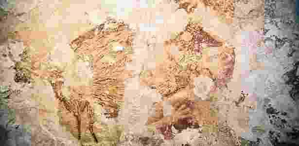 Pinturas da caverna em Sulawesi são tão antigas quanto as da Europa - Reprodução - Reprodução